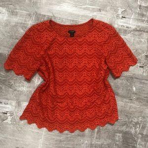 Coral J.Crew blouse